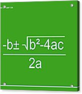 Quadratic Equation Green-white Acrylic Print