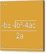 Quadratic Equation Orange-white Acrylic Print
