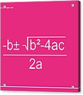 Quadratic Equation Acrylic Print