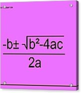 Quadratic Equation Pink-black Acrylic Print