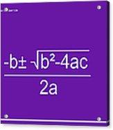 Quadratic Equation Violet-white Acrylic Print
