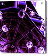 Quadrent Purple Acrylic Print