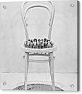Quails Eggs On A Chair Acrylic Print