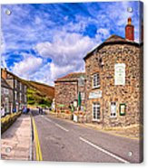 Quaint Cornwall In The Little Village Of Boscastle Acrylic Print by Mark E Tisdale