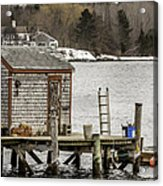 Quaint Fishing Shack New Hampshire Acrylic Print
