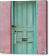 Quaint Little Door In The Quarter Acrylic Print