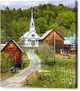 Quaint Vermont Village Acrylic Print