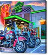 Quaker Steak And Lube Bike Night Acrylic Print