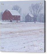 Quakertown Farm On Snowy Day Acrylic Print