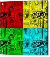 Quad Color Horses Acrylic Print