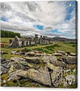 Quarry Cottages Acrylic Print