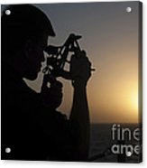 Quartermaster Uses A Statometer Aboard Acrylic Print