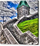 Quebec City Fortress Gates Acrylic Print