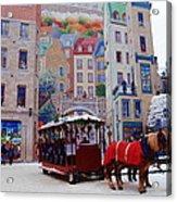 Quebec City Holiday Acrylic Print