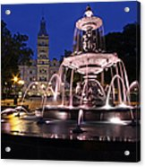 Quebec Parlementaire And Fontaine De Tourny Acrylic Print
