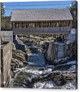 Quechee Covered Bridge Acrylic Print