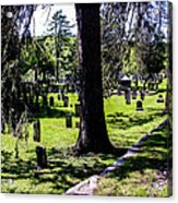 Quechee Vermont Cemetary Acrylic Print