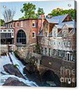 Quechee Village Mill Acrylic Print
