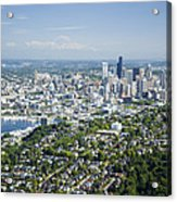 Queen Anne Hill, Lake Union, City Acrylic Print