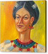 Queen Centehua Acrylic Print by Lilibeth Andre