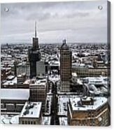 Queen City Winter Wonderland After The Storm Series 001 Acrylic Print