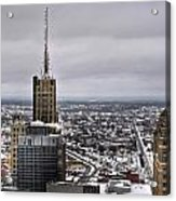 Queen City Winter Wonderland After The Storm Series 0012 Acrylic Print