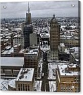 Queen City Winter Wonderland After The Storm Series 004 Acrylic Print