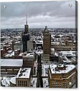 Queen City Winter Wonderland After The Storm Series 007 Acrylic Print