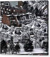 Queen City Winter Wonderland After The Storm Series0028 Acrylic Print