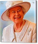 Queen Elizabeth II Portrait 100-028 Acrylic Print