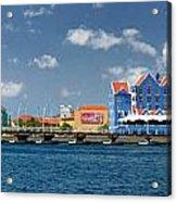 Queen Emma Bridge Open Curacao Acrylic Print