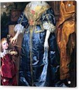 Queen Henrietta Maria (1609-69) Acrylic Print