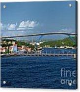 Queen Juliana Bridge  Queen Emma Bridge Curacao Acrylic Print