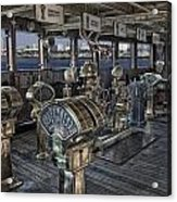 Queen Mary Ocean Liner Bridge 01 Extreme Acrylic Print
