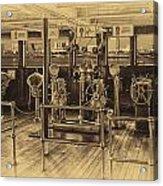 Queen Mary Ocean Liner Bridge 02 Heirloom Acrylic Print