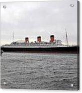 Queen Mary Ocean Liner Full Starboard Side 03 Long Beach Ca Acrylic Print