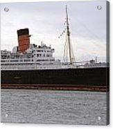 Queen Mary Ocean Liner Starboard Side 05 Long Beach Ca Acrylic Print