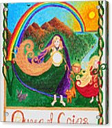 Queen Of Coins Acrylic Print