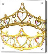 Queen Of Hearts Crown Tiara By Kristie Hubler Acrylic Print