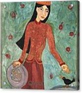 Queen Of Pentacles Acrylic Print