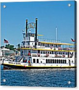 Queen Of Seattle Vintage Paddle Boat Art Prints Acrylic Print
