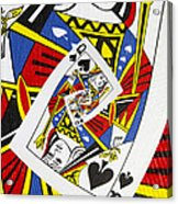 Queen Of Spades Collage Acrylic Print