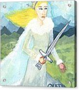 Queen Of Swords Acrylic Print