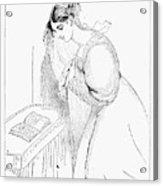 Queen Victoria Sketch Acrylic Print