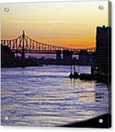 Queensboro Bridge At Night - Manhattan Acrylic Print
