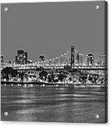 Queensboro Bridge 59th Street Nyc Bw Acrylic Print