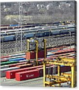 Queensgate Yard Cincinnati Ohio Acrylic Print