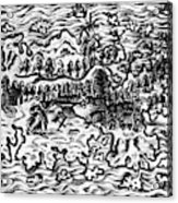 Queiros Voyages, 1613 Acrylic Print
