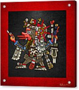 Quetzalcoatl In Human Warrior Form - Codex Borgia Acrylic Print