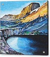 Quick Sketch - Kit Carson Peak Acrylic Print